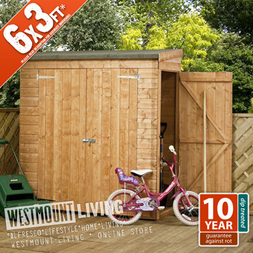 New 6x3ft wooden shiplap t g tall small narrow garden shed for Narrow garden sheds