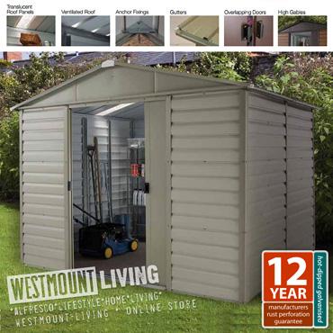 Shiplap metal shed 10 x 12 ft