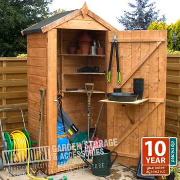 New 3 x 2 ft 3x2 3x2ft t g tall wooden tool store storage for Narrow garden sheds