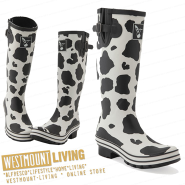 NEW LADIES PATTERNED WINTER WELLINGTON WELLIES RAIN SNOW ...