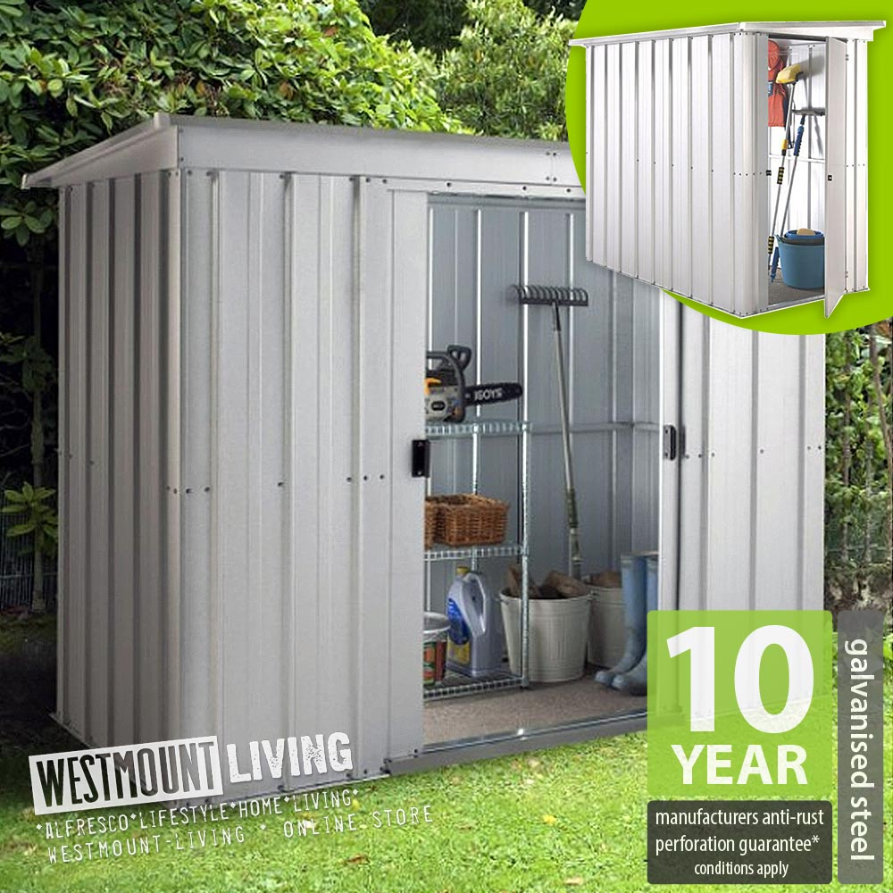 New 5x4 6x4 8x4 10x4 ft galvanised metal lean to pent for Garden shed 6x4 sale